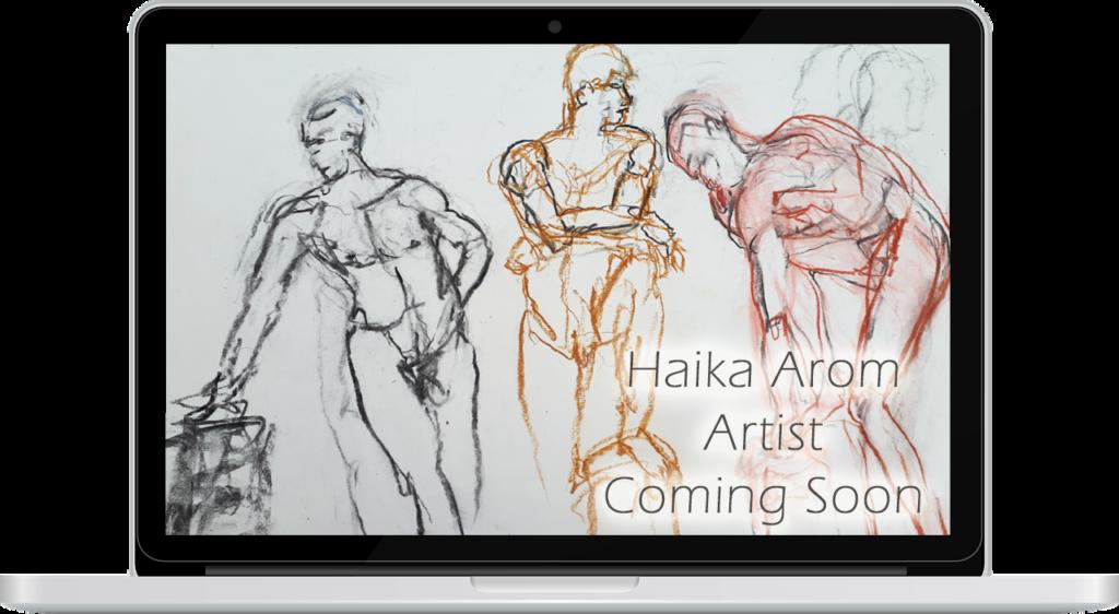 Haika Arom Artist by lightpresence web design - Tamara Arom-Hobbs