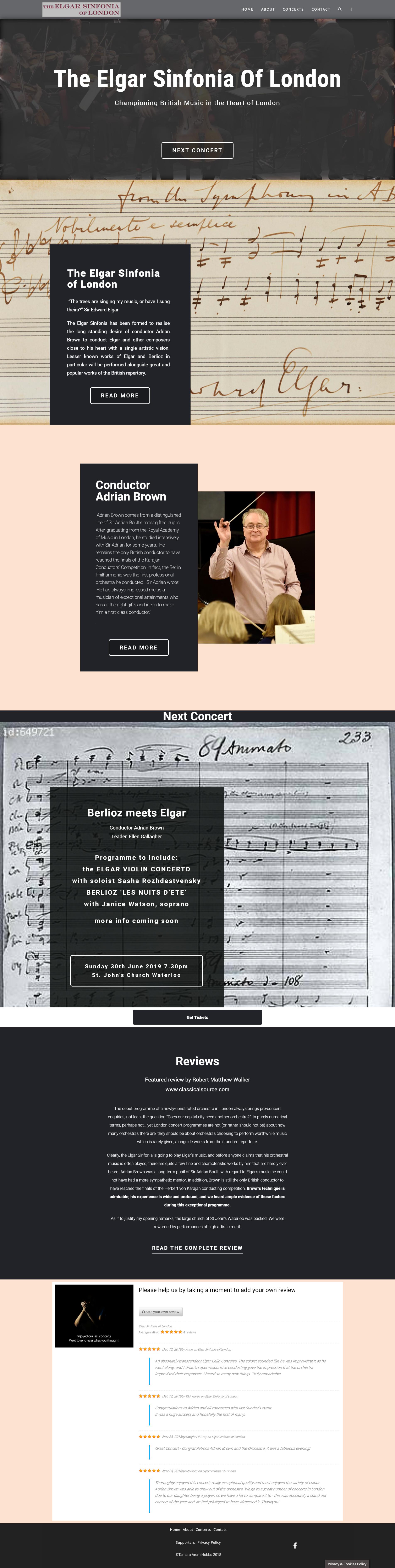 Elgar Sinfonia of London by Lightpresence Webdesign